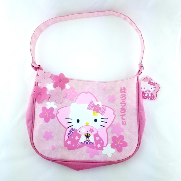 458b4de6b89f Hello Kitty Purse Handbag Sakura Flowers Kimono